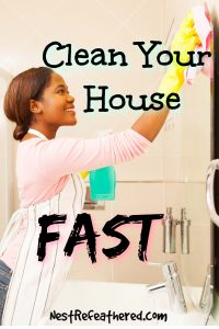 fake a clean home