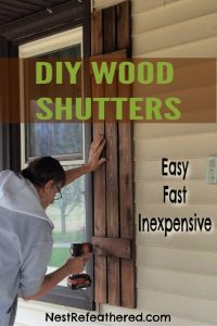 make your own wood shutters