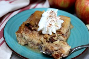 apple bread pudding with whipped topping r