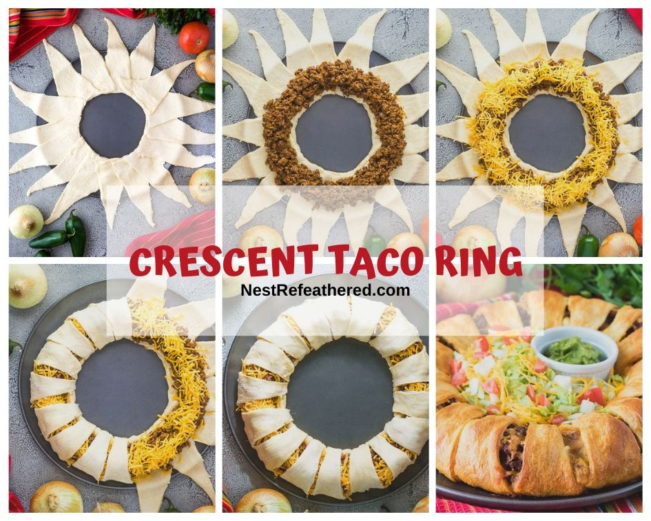crescent taco ring collage