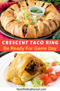 Crescent Roll Taco ring