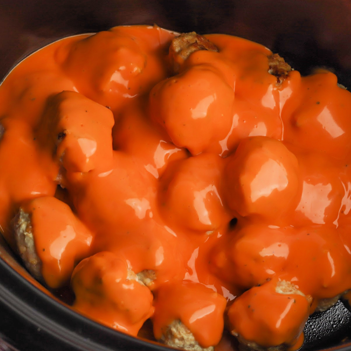buffalo chicken meatballs in crockpot