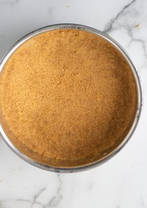 cheesecake crust in pan
