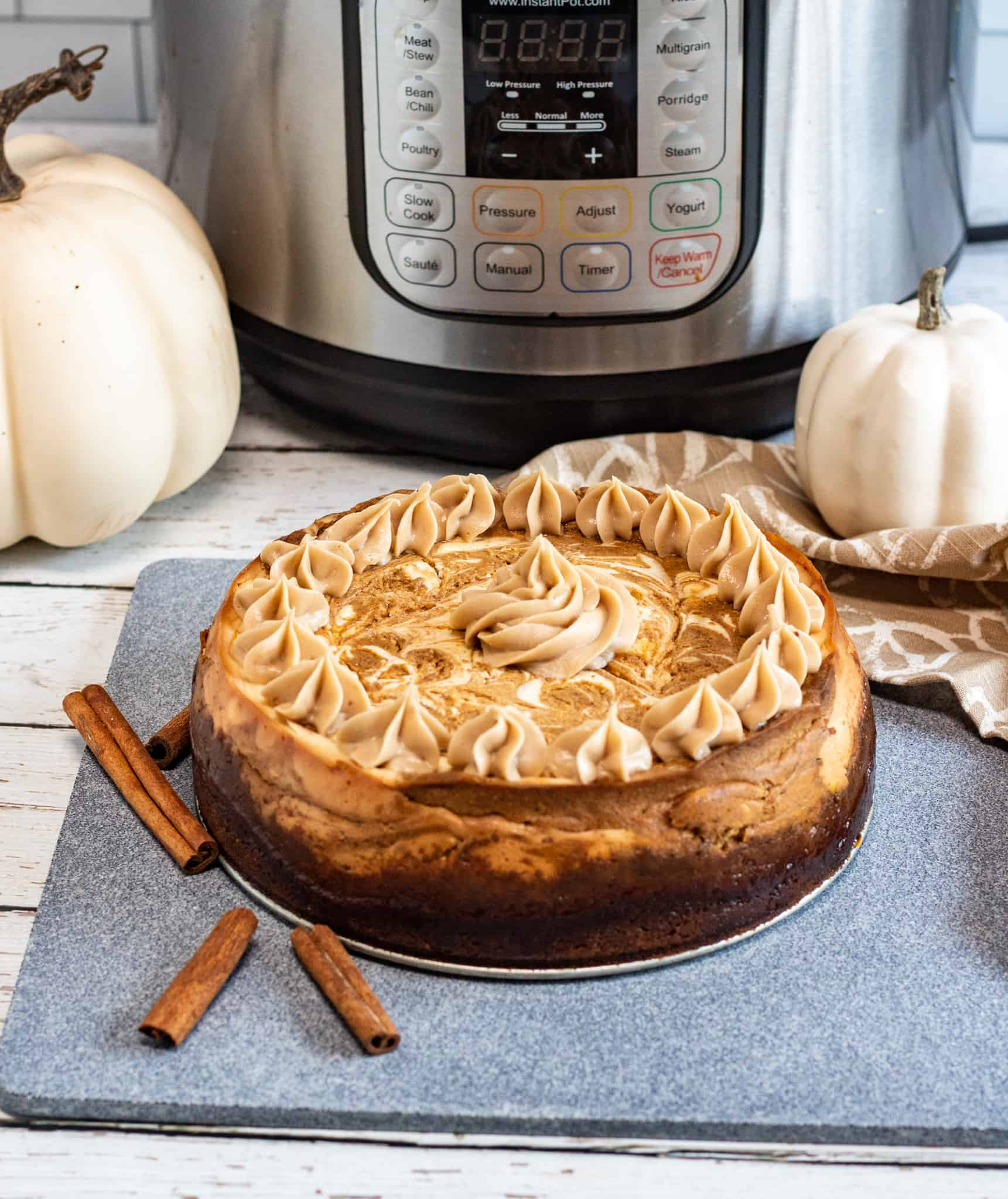 maple pumpkin cheesecake with instant pot