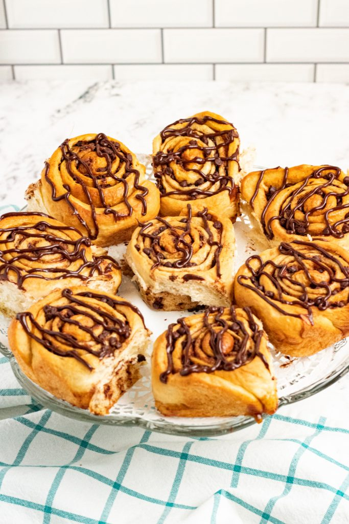 plate of chocolate chip rolls