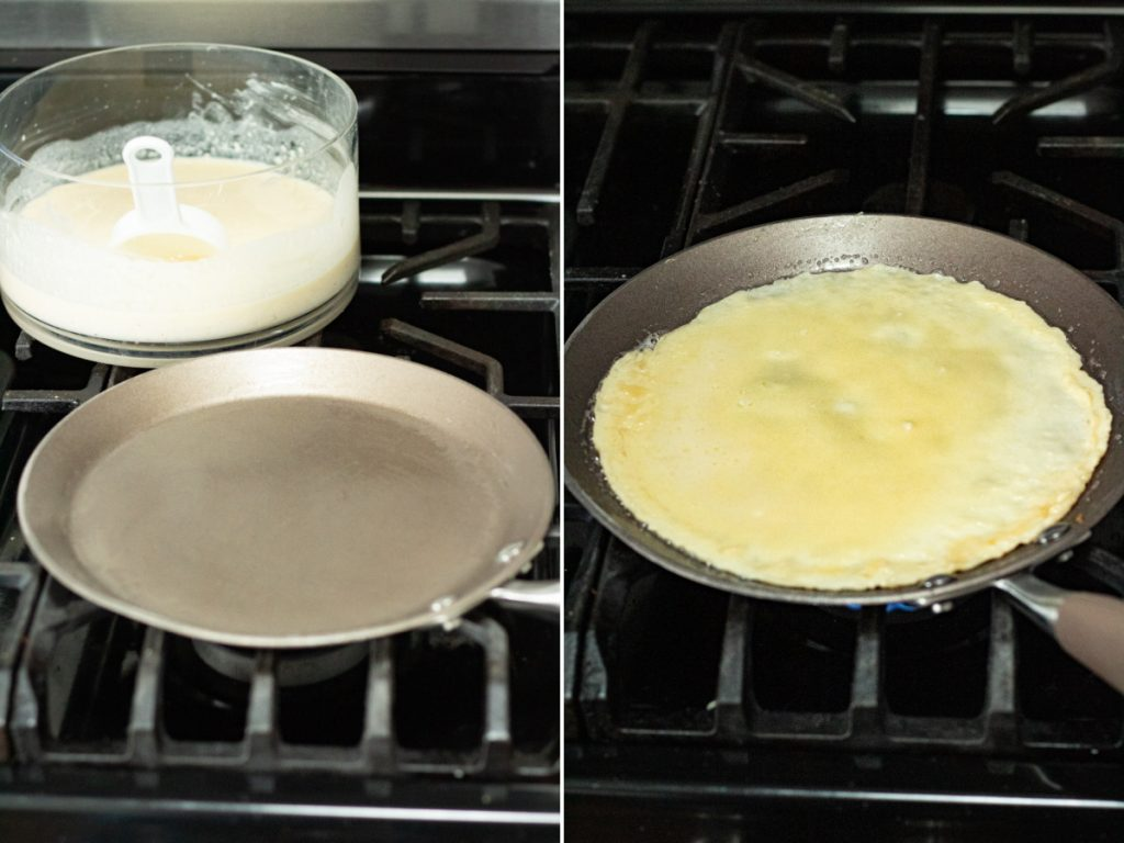 making the crepes