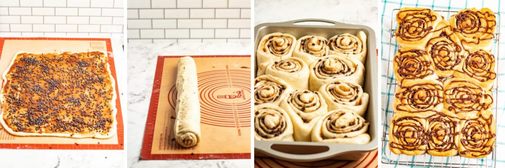 making cinnamon rolls pictures