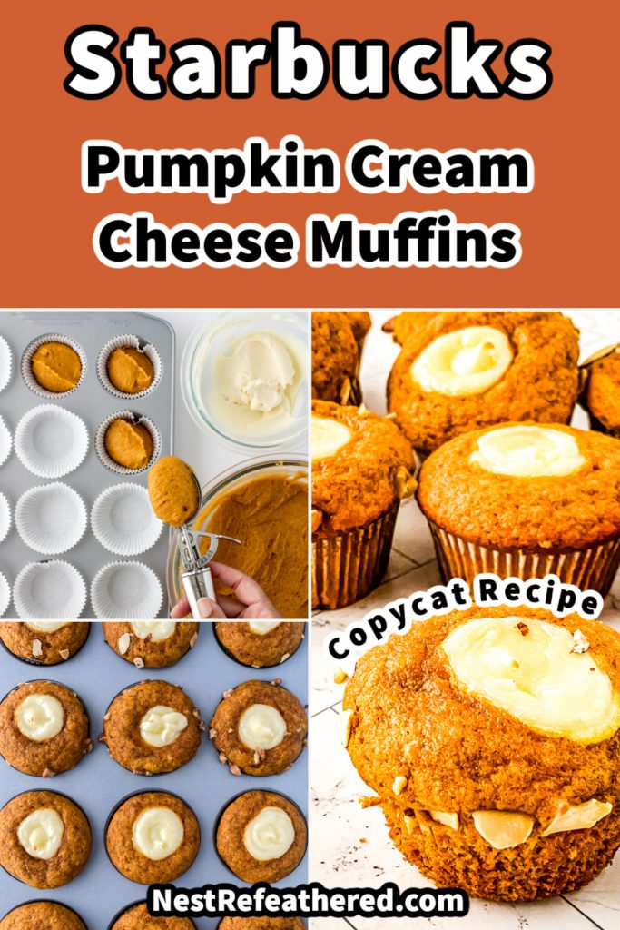 collage pin of pumpkin muffins