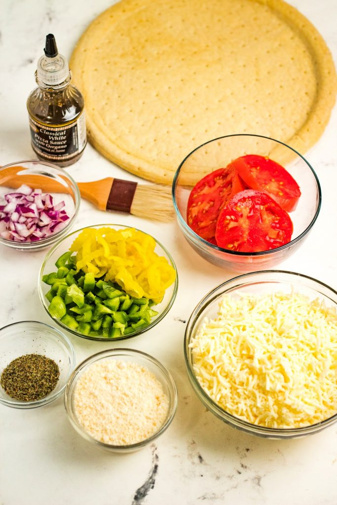 ingredients for Traeger pizza